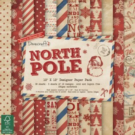 Designer Paper Pack - North Pole, 30x30 cm