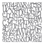 Andy Skinner Mixed Media Stencils - Alphabet, 20.32x20.32cm