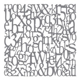 Andy Skinner Mixed Media Stencils - Alphabet, 20.32x20.32cm