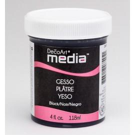 DecoArt Mixed Media Gesso - Black, 118 ml