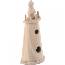 Wooden Lighthouse, 19 x 10 cm