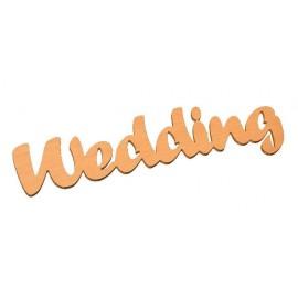 Wooden word - Wedding, 4 mm 28,7 x 7,8 cm