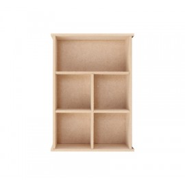 MDF Collection Box 5 comp, 149 x 54 x 210mm