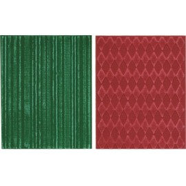 Embossing folders - Harlequin & Stripes / 2 pcs