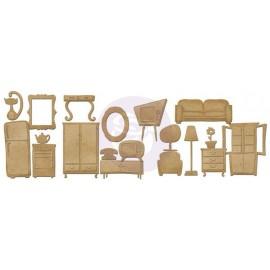 Prima Chipboard Furniture, 19 pcs