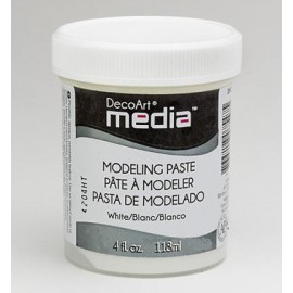 DecoArt Mixed Media - Modeling Paste - white, 118 ml