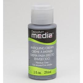 DecoArt Mixed Media - Antiquing Cream - Medium Grey, 29,6 ml