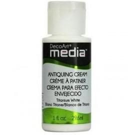 DecoArt Mixed Media - Antiquing Cream - Titanium White, 29,6 ml