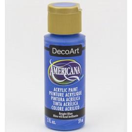 DecoArt Americana Acrylic Paint - Bright Blue, 59ml