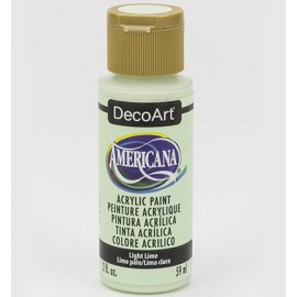 DecoArt Americana Acrylic Paint - Light Lime, 59ml