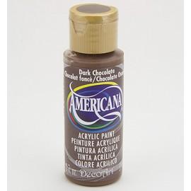 DecoArt Americana Acrylic Paint - Dark Chocolate, 59ml