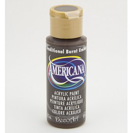 DecoArt Americana Acrylic Paint - Traditional Burnt Umber, 59ml