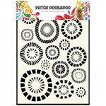 Dutch Doobadoo Mask Art A5 - Circles