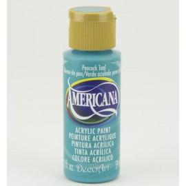 DecoArt Americana Acrylic Paint - Peacock Teal, 59ml
