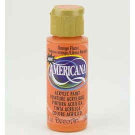 DecoArt Americana Acrylic Paint - Orange Flame, 59ml