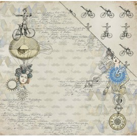 FabScraps - Dream Steam Collection - Victorian Futurism, 30x30 cm