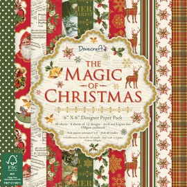 Designer Paper Pack - The Magic of Christmas. 15 x 15 cm