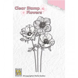 Clear Stamp Flowers - Anemones, 45x70 mm