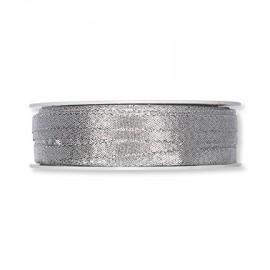 Narrow Lurex Ribbon - Silver, 6mm x 1m