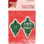 C & E Stencil - Christmas  Balls, 2 pcs