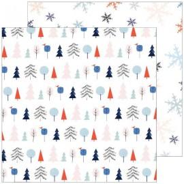 Pinkfresh Studio - December Days Collection - Festive Trees, 30x30 cm