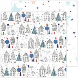 Pinkfresh Studio - December Days Collection - Starry Night, 30x30 cm