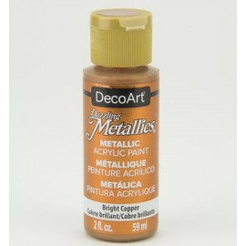 DecoArt Dazzling Metallics Acrylic Paint - Bright Copper, 59ml