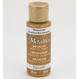 DecoArt Dazzling Metallics Acrylic Paint - Venetian Gold, 59ml