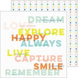 Pinkfresh Studio - Dream On Collection - Aspire, 30x30 cm