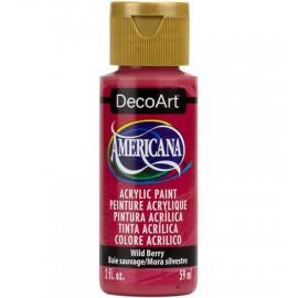 DecoArt Americana Acrylic Paint - Wild Berry, 59ml