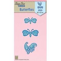 Shape Dies Blue - Butterflies