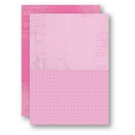 A4 Background Sheets - Strips, pink, nr.09