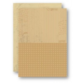 A4 Background Sheets - Strips, brown