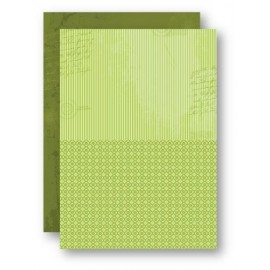 A4 Background Sheets - Strips, green