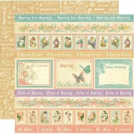 Dec. paper 2-sided G45 Spring has Sprung 30,5X30,5 cm