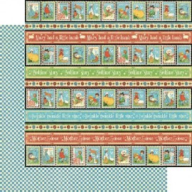 Dec. paper 2-sided G45 Playful Postage 30,5X30,5 cm