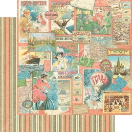 Dec. paper 2-sided G45 Pleasure Trip 30,5X30,5 cm